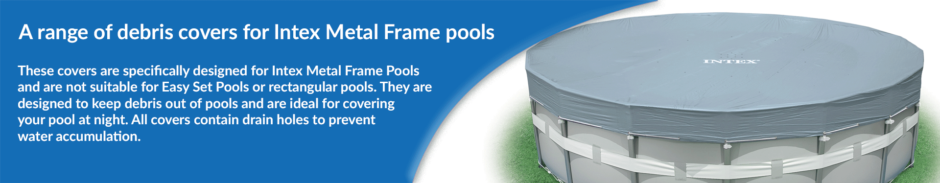 Intex Metal Frame Pool Covers