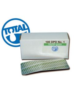 Total Pool DPD 1 Comparator/Rapid Tablets (Free Chlorine/Bromine) - 100 Pack