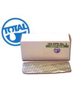 Total Pool DPD 3 Comparator/Rapid Tablets (Combined Chlorine) - 100 Pack