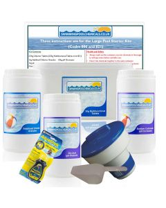 Large Pool Starter Kit with Multifunctional Tablets (12ft - 15ft Diameter Pools)