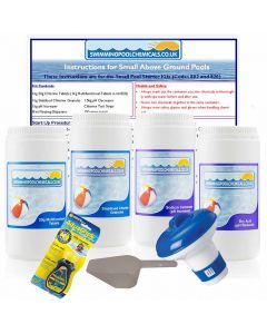 Small Pool Starter Kit with Multifunctional Tablets (Pools up to 12ft Diameter)