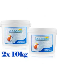 20g Stabilised Chlorine Tablets - 2x 10kg